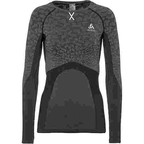Odlo Bl Top Crew Neck L/S Blackcomb Funktionsshirt Damen black-steel grey-silver