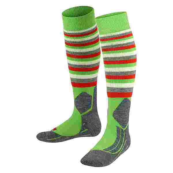 Falke SK2 Stripes Skisocken Kinder vivid green (7231)
