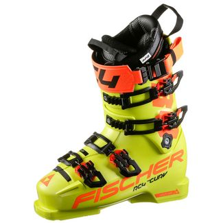 Fischer RC4 Curv 130 Vacuum Skischuhe Herren gelb-orange