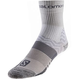 Salomon Outpath Mid Wandersocken Damen light grey-dark grey