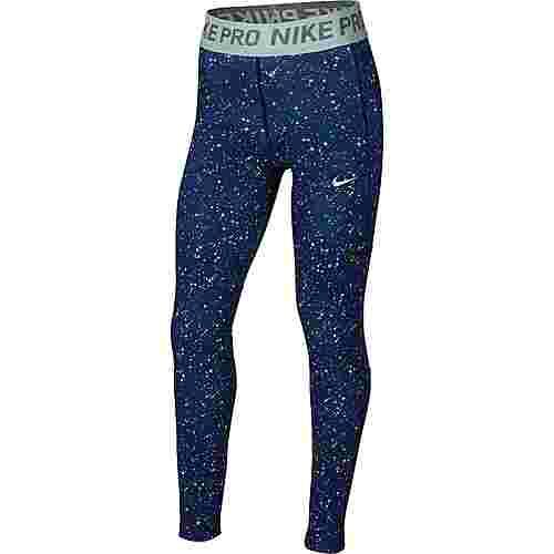 Nike NP Tights Kinder blue-void-blue-void-teal-tint