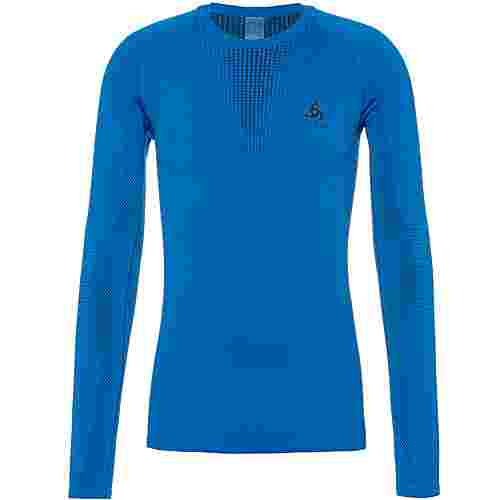 Odlo Bl Top Crew Neck L/S Performance Warm Funktionsshirt Herren directoire blue-black