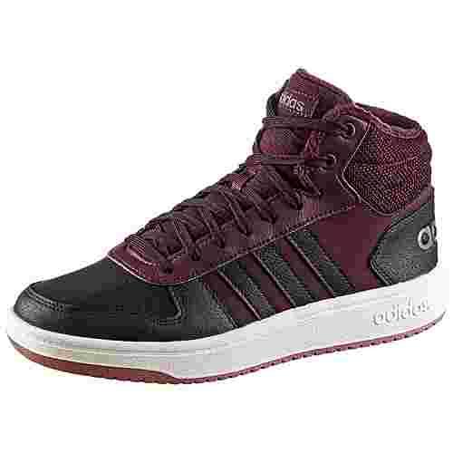 adidas Hoops 2.0 Sneaker Damen maroon