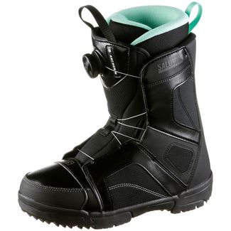 Salomon Anchor Boa Woman Snowboard Boots Damen black-black-opal