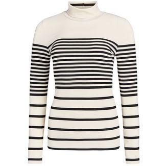 Khujo ARTIFICIA Langarmshirt Damen schwarz-weiß