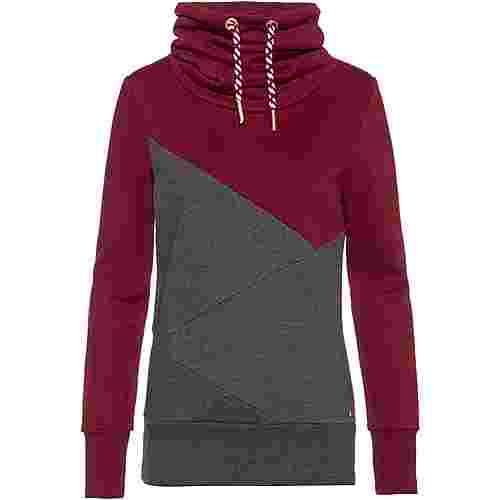 WLD Musiclove Sweatshirt Damen bordeaux-grey