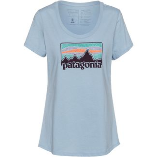 Patagonia Solar Rays '73 Organic Scoop T-Shirt Damen big sky blue