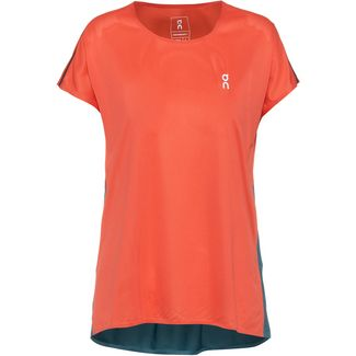 ON Laufshirt Damen coral-storm