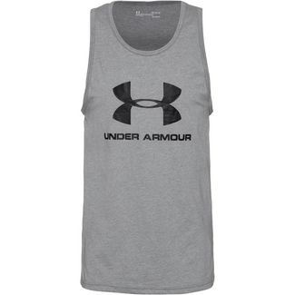 Under Armour Sportstyle Logo Funktionstank Herren gray