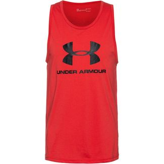 Under Armour Sportstyle Logo Funktionstank Herren red