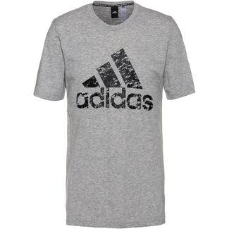 adidas T-Shirt Herren mgreyh-black-gresix
