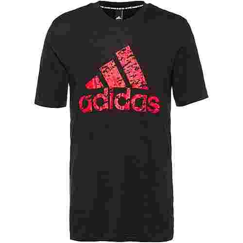 adidas T-Shirt Herren black-actora-scarle