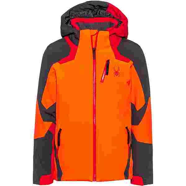Spyder Leader Skijacke Kinder bryte-orange