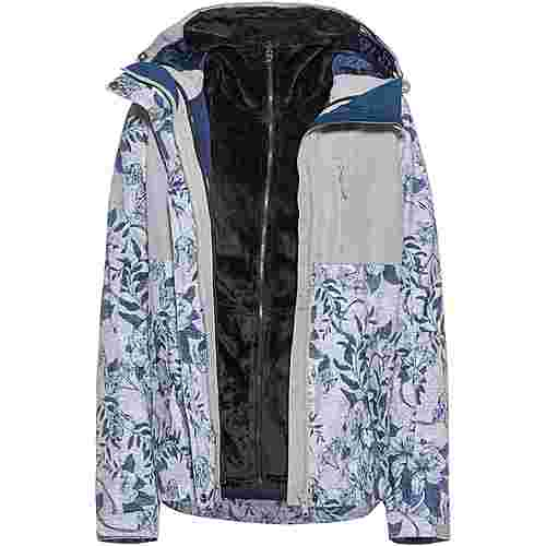 Roxy Jetty Skijacke Damen heather grey botanical flowers
