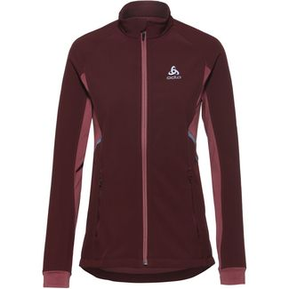 Odlo Jacket Aeolus Laufjacke Damen decadent chocolate-roan rouge