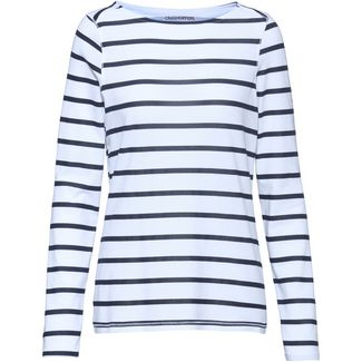 Craghoppers NosiLife Erin II Langarmshirt Damen blue navy-optic white stripe