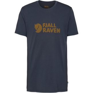 FJÄLLRÄVEN Logo T-Shirt M Printshirt Herren navy