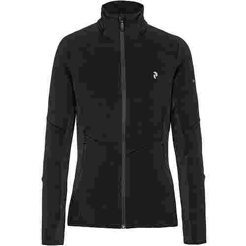 Peak Performance Helo Mid Zip Fleecejacke Damen black