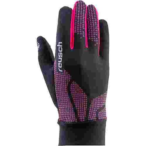 Reusch Ian Junior Fingerhandschuhe Kinder black-raspberry