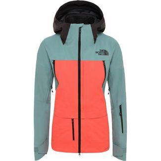 The North Face Ceptor Hardshelljacke Damen trellis green-radiant orange