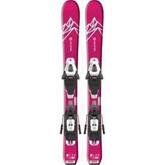 Salomon E QST LUX JR XS+ C5 GW J All-Mountain Ski Kinder pink