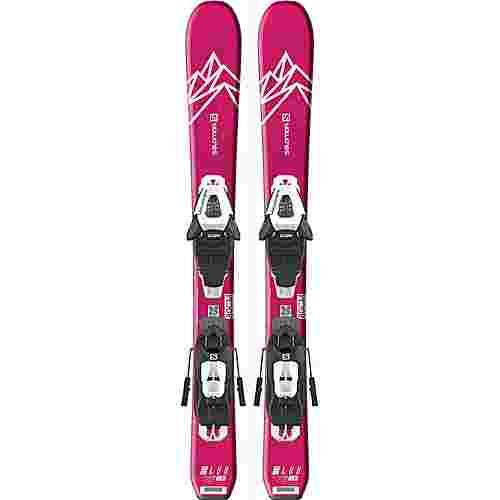 Salomon E QST LUX JR XS+ C5 GW J All-Mountain Ski Kinder pink