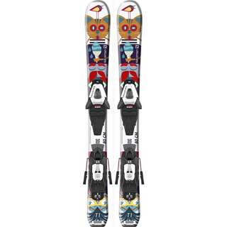 Salomon E T1 JR XS + C5 GW J75 All-Mountain Ski Kinder white