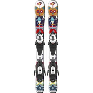 Salomon E T1 JR XS + C5 GW J75 All-Mountain Ski Kinder white