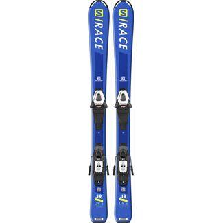 Salomon E S/RACE JR S + C5 GW J All-Mountain Ski Kinder blue-fluo yellow