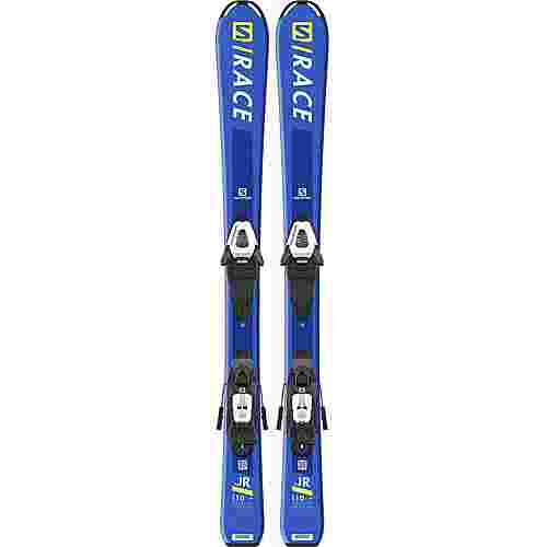 Salomon E S/RACE JR S + C5 GW J All-Mountain Ski Kinder blue-fluo yellow