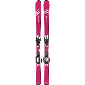 Salomon E QST LUX JR M + L6 GW All-Mountain Ski Kinder pink