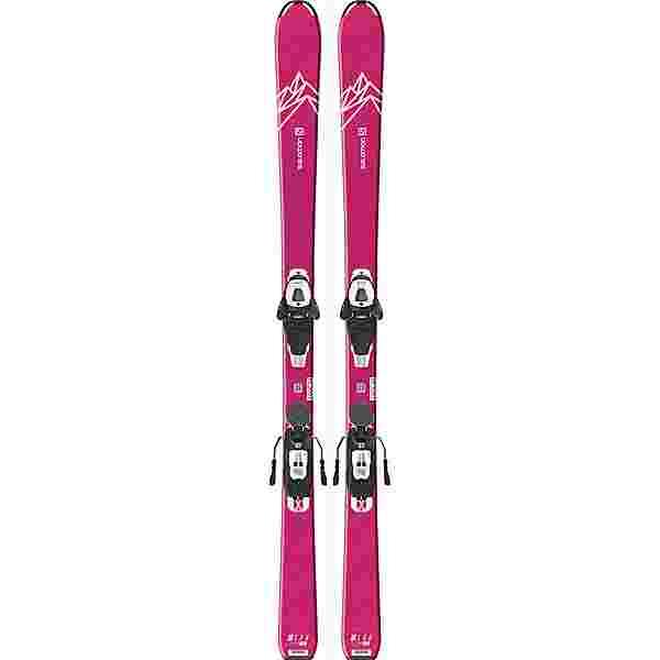 Salomon E QST LUX JR M + L6 GW All-Mountain Ski Kinder pink