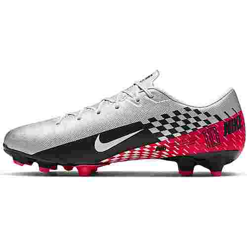 Nike MERCURIAL VAPOR 13 ACADEMY NJR FG/MG Fußballschuhe chrome-black-red orbit-platinum tint-white