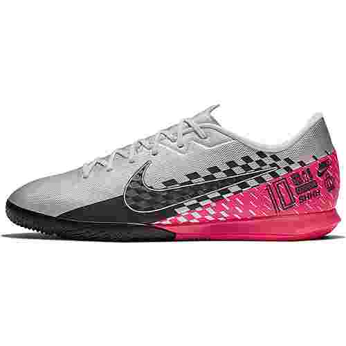 Nike MERCURIAL VAPOR 13 ACADEMY NJR IC Fußballschuhe chrome-black-red orbit-platinum tint