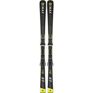 Salomon E SMAX 10 + Z12 GW F80 All Mountain Ski black yellow im Online Shop von SportScheck kaufen