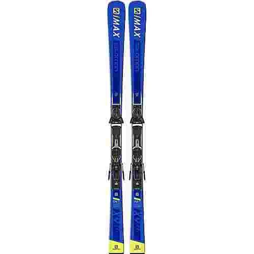 Salomon E S/MAX X9 Ti + Z10 GW All-Mountain Ski blue-yellow