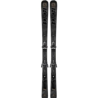 Salomon E S/FORCE X10 Ti + Z12 All-Mountain Ski grey-black