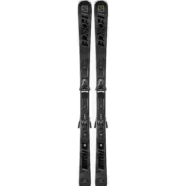Salomon E S/FORCE X10 Ti + Z12 All-Mountain Ski grey-black
