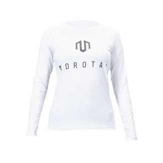 MOROTAI Performance Bonded Longsleeve Langarmshirt Damen Weiß