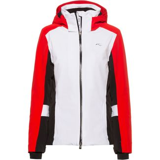 KJUS Laina Skijacke Damen white-fiery red