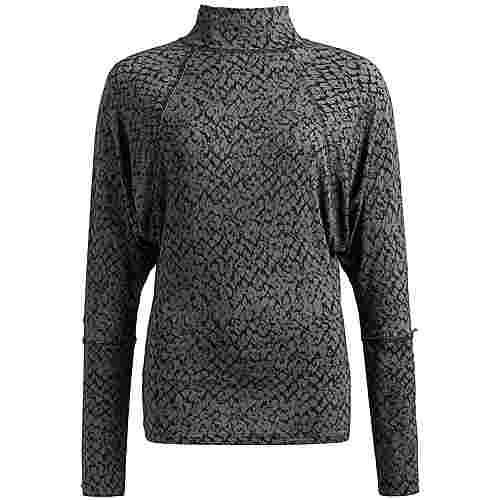 Khujo SHEDI Langarmshirt Damen grau gemustert