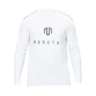 MOROTAI Jersey Bonded Longsleeve Langarmshirt Herren Weiß