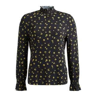 Khujo ANNKEA Langarmshirt Damen schwarz-gold