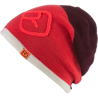 ORTOVOX Patchwork Merino Beanie dark blood