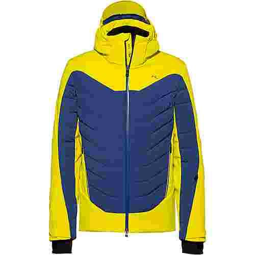 KJUS Sight Line Skijacke Herren citric yellow-blue