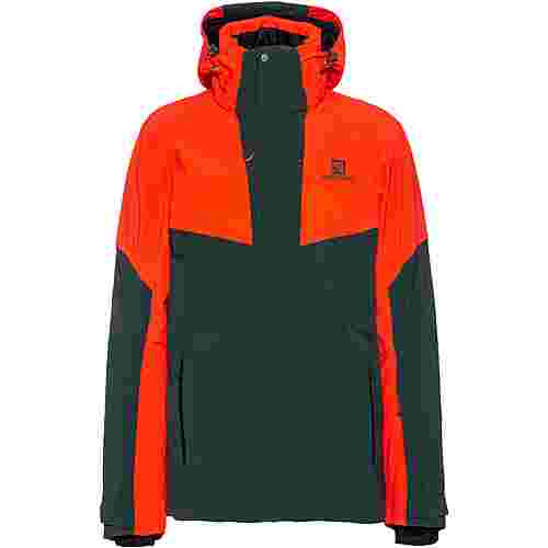 Salomon Icerocket Skijacke Herren green gables-cherry tomato