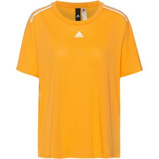 adidas T-Shirt Damen active gold-white