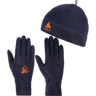 Odlo MICROFLEECE Set Mütze und Handschuhe mitternachtsblau