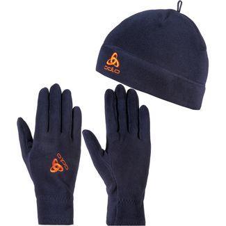 Odlo Set aus Mütze und Handschuhe mitternachtsblau