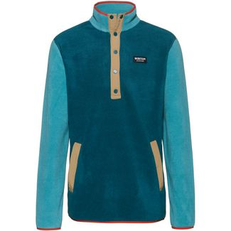 Burton Hearth Fleeceshirt Herren deep teal-green-blue slate
